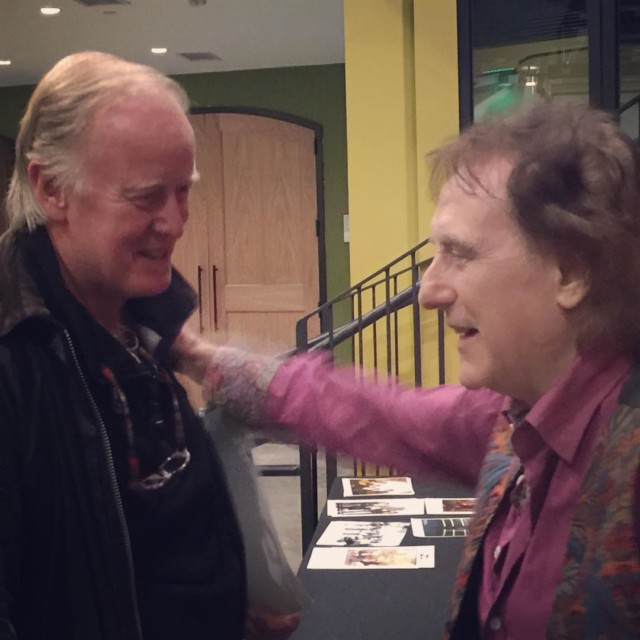 Charles Nevinson with Denni Laine lead guitarist of Wings duringhellip