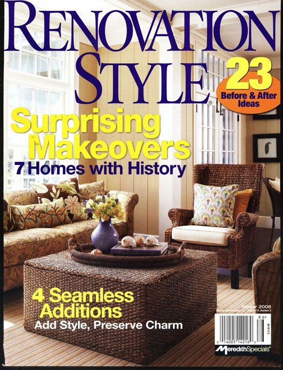 Renovation Style - Winter 2008 - Cover
