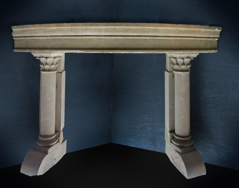 Stone Corner Mantel A1824 - Architectural Accents