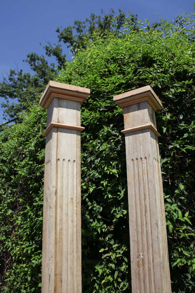 Square Wood Columns : Square fluted wooden columns a architectural accents