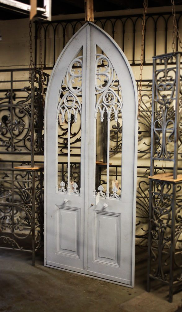 French Iron Conservatory Doors A11236 & French Iron Conservatory Doors A11236 - Architectural Accents