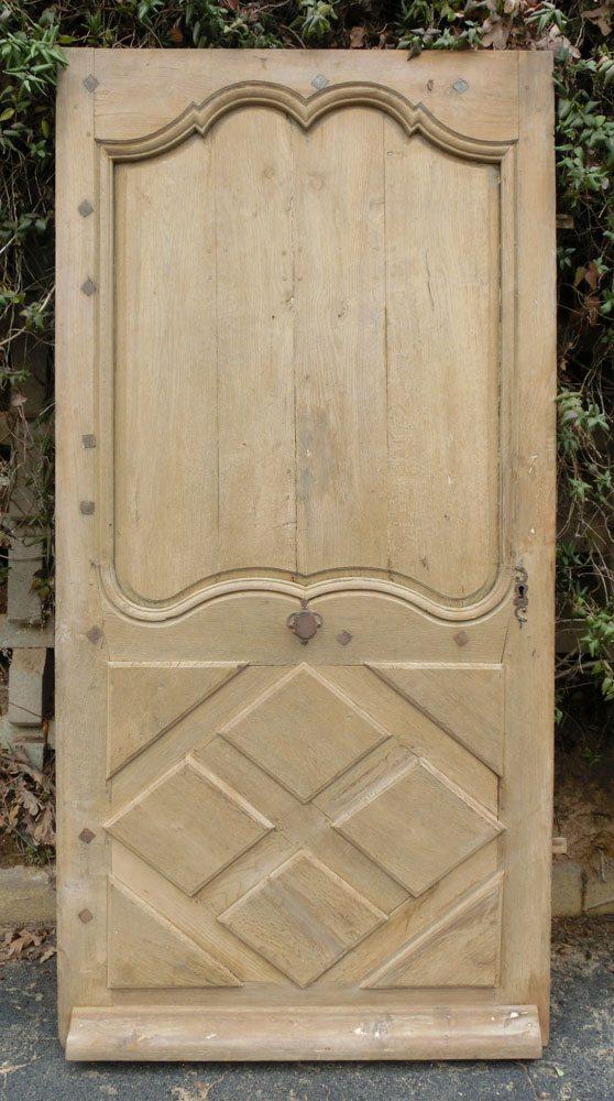 Rare Louis XIV Oak Door A11774 - Antique Oak French Doors, Wood Glass Front Door, Architectural
