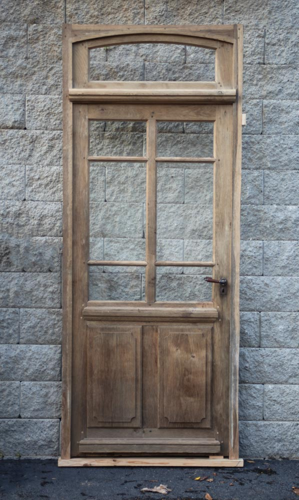 French Oak Door A11876 & Antique Oak French Doors Wood Glass Front Door Architectural ... Pezcame.Com