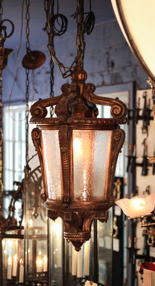 French Wooden Lantern A9694 - Antique Chandelier Lighting - Outdoor Wall Light Fixtures