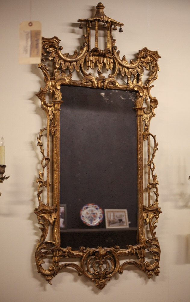 Italian Gilded Chinoiserie Mirror A10415 Architectural