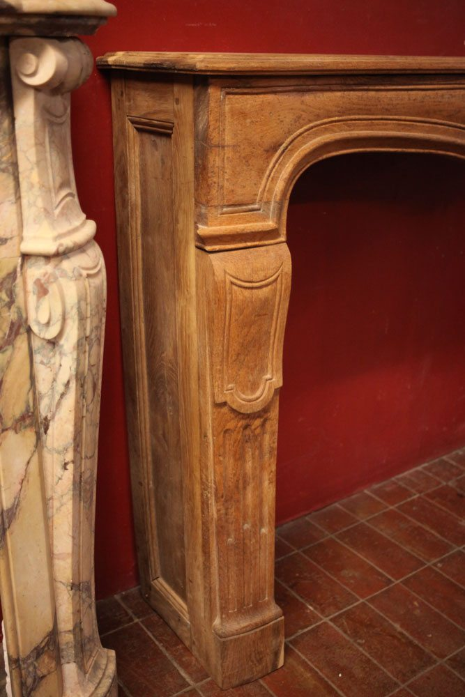 French Carved Oak Mantel A11922 Architectural Accents