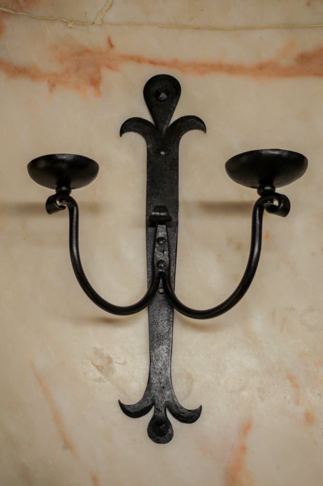 Wrought Iron Double Candelabra A11935 Architectural Accents