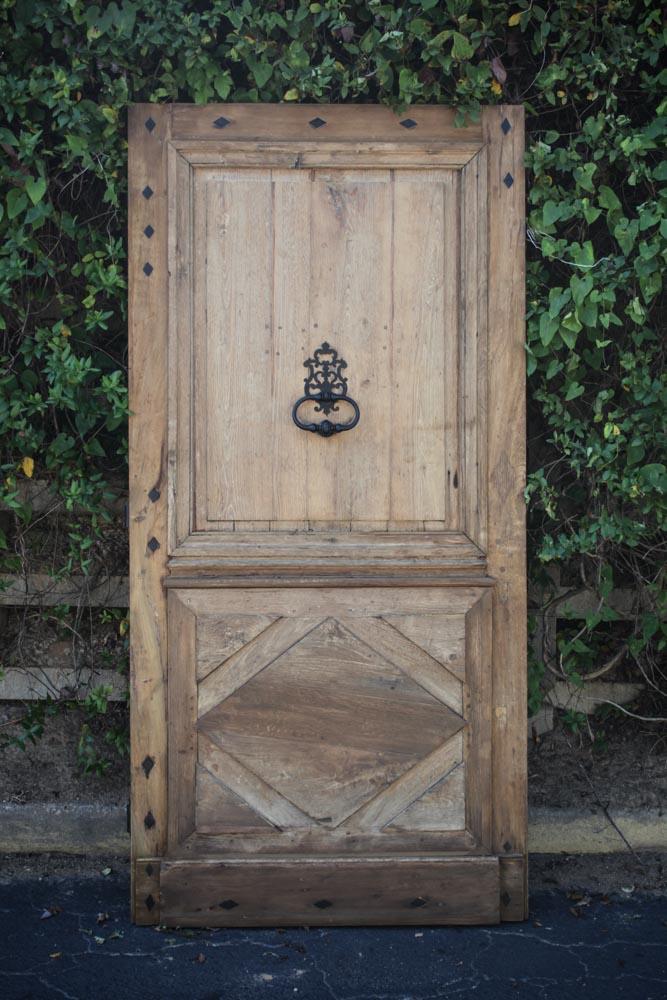 Rare Early 18th Century Oak Door A11977 - Antique Oak French Doors, Wood Glass Front Door, Architectural