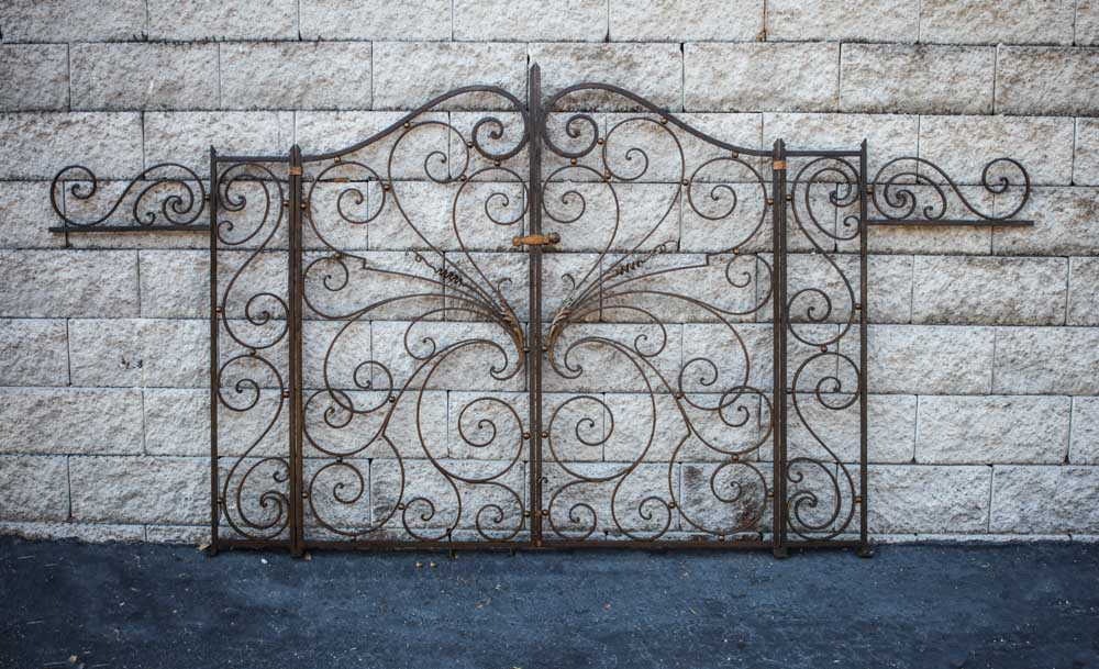 French Wrought Iron Gates A11997 - Antique Iron Gates And Iron Work Archives - Balconies & More