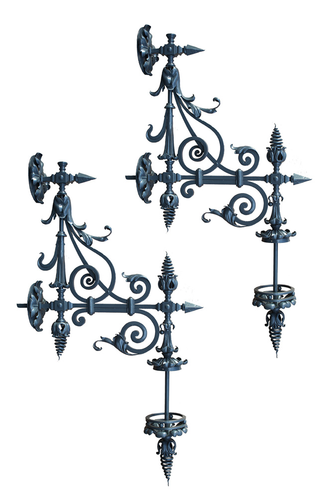 Wrought Iron Decorative Brackets A12025 Architectural Accents